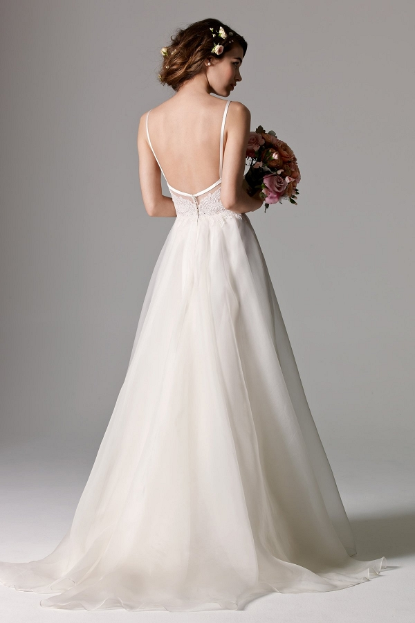 Watters Kai Bridal Gown Back