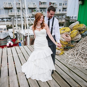 Portland Maine bride and groom