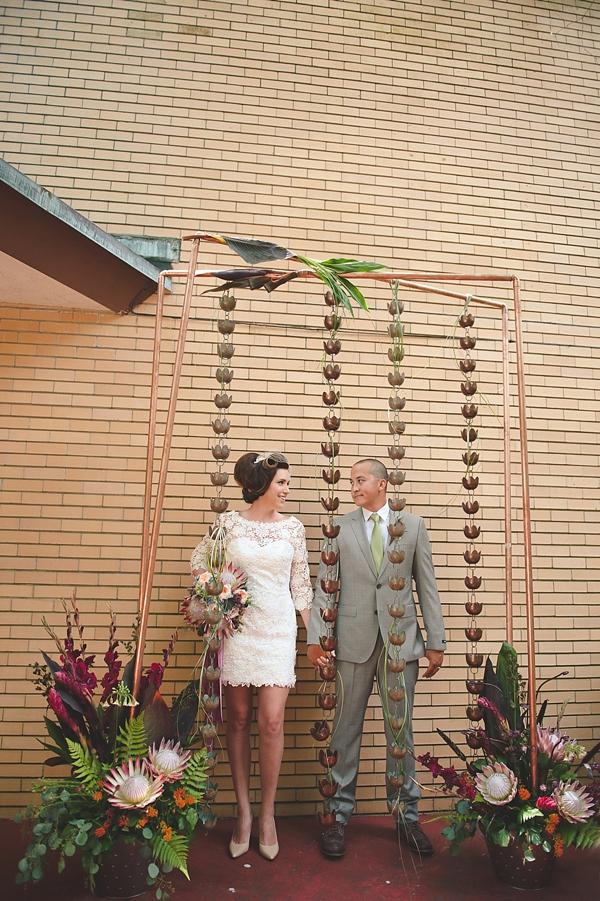 Frank Lloyd Wright Inspired Couple