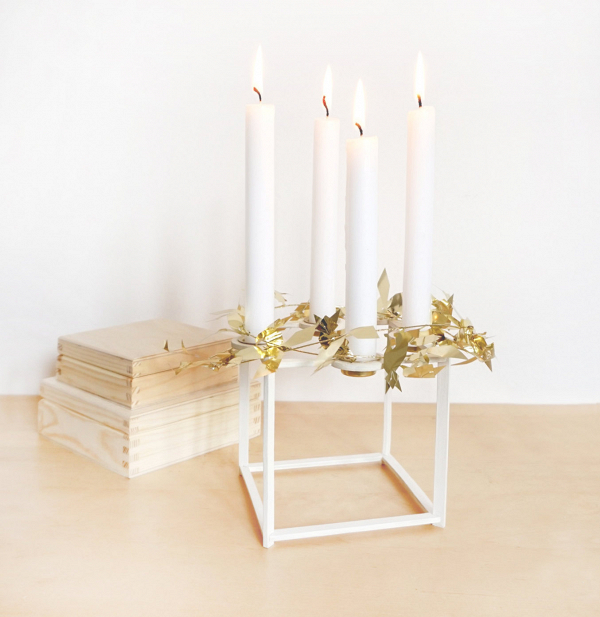 White Birch Candle Holder