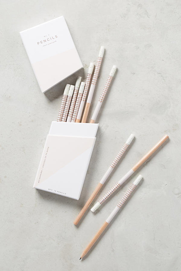 Modern Wood White Pencils