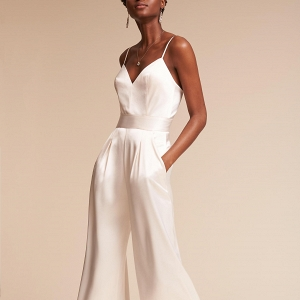 Wide leg bridal jumpsuit