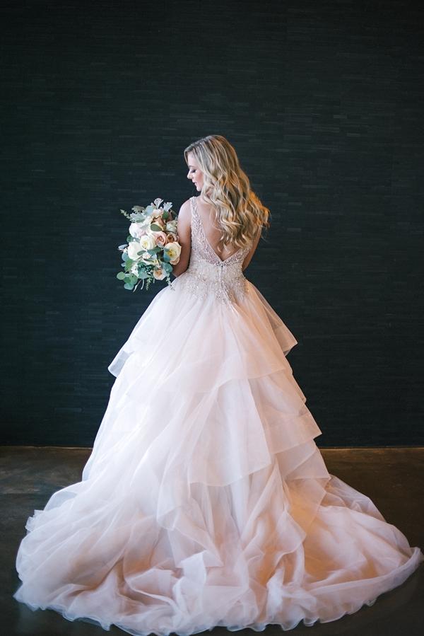 Modern Champagne Wedding Dress