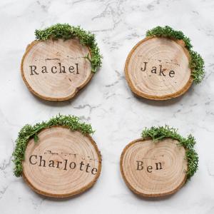 Rustic Wedding Wood Escort Cards