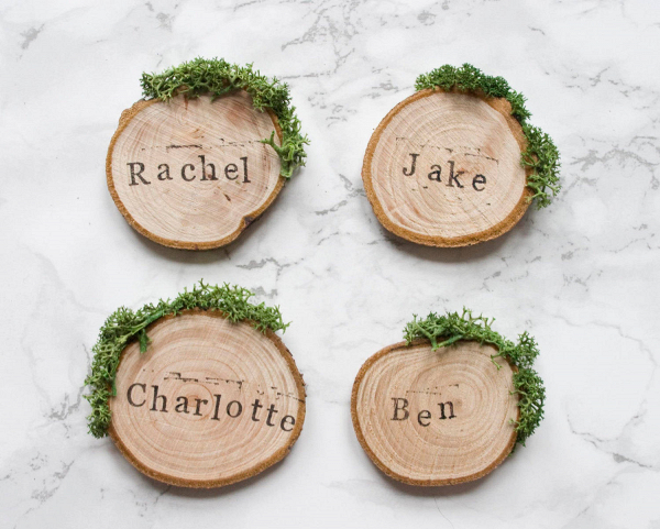 Rustic Wedding Wood Escort Cards