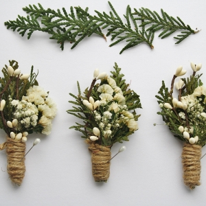 Rustic Woodland Wedding Boutonnieres