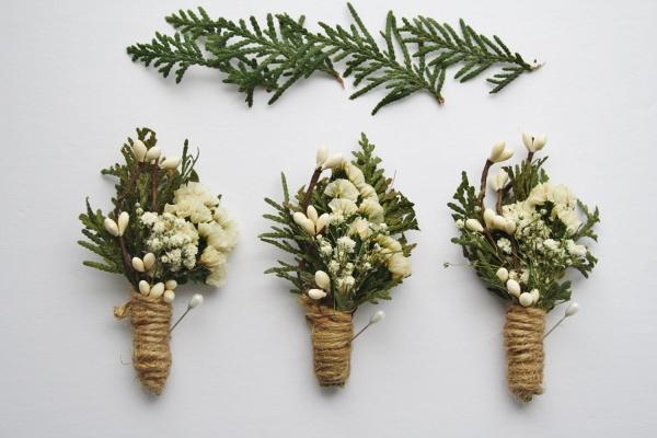 Rustic Woodland Wedding Boutonnieres