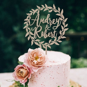 Custom Laser Cut Wedding Cake Topper