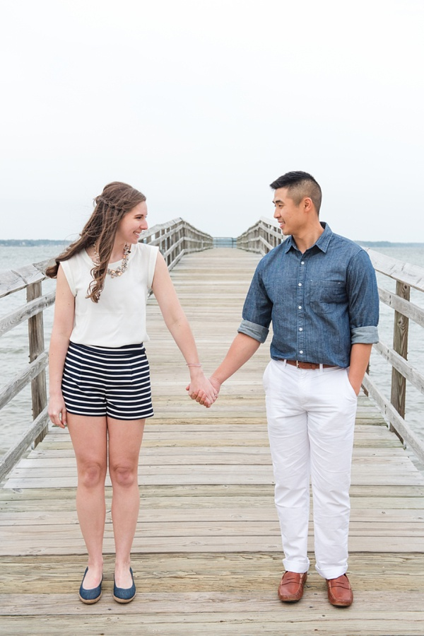 Nautical clothing for bride and groom to be