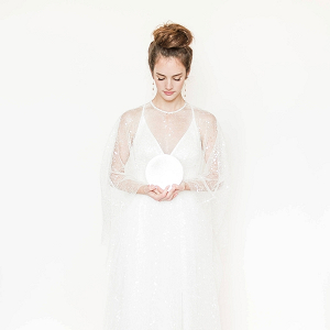 Celestial Inspired Bridal Cape