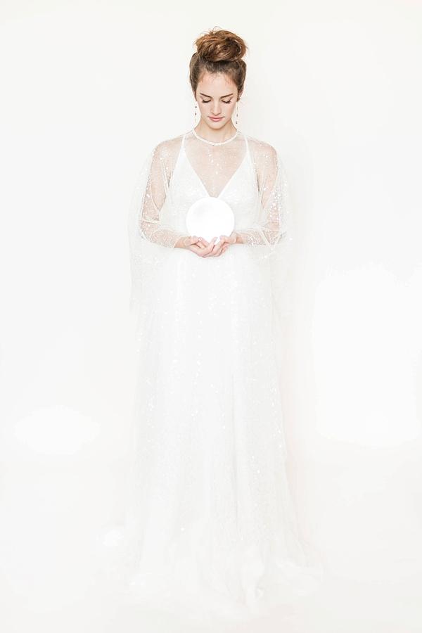 Celestial Inspired Bridal Cape