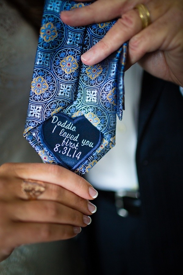 Wedding tie patch for father of the bride or groom