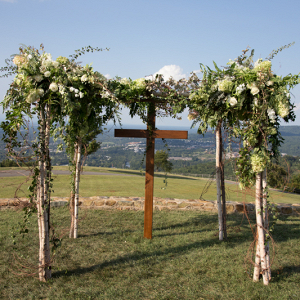 cross ceremony backdrop