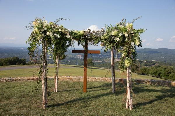 cross ceremony backdrop
