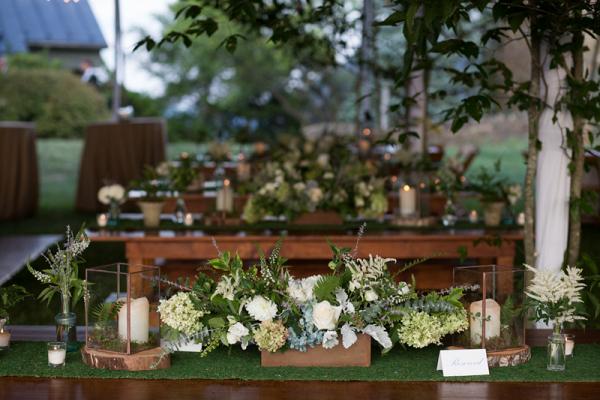 Farm table wood inspired decor