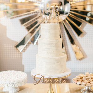 Champagne dessert table