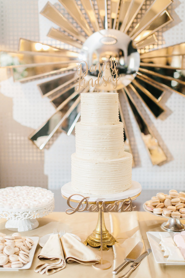 Champagne dessert table