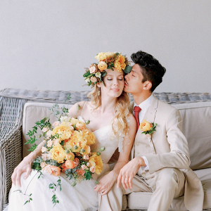 Lush Bouquet Boho Wedding Dress Inspiration