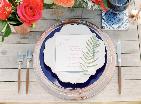 Virginia Winery Inspiration with Blue and Orange Accents