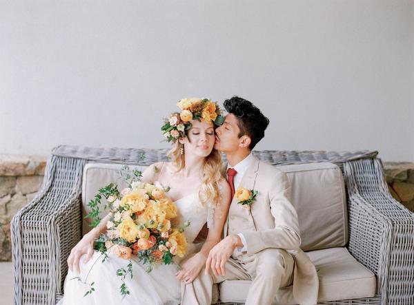 Lush Bouquet Boho Wedding Dress Inspiration