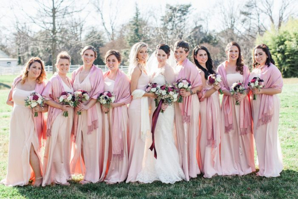 Blush bridesmaids
