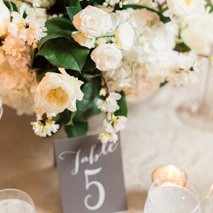 Lush white centerpiece