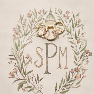 Painted monogram
