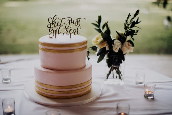 Shit just got real cake topper