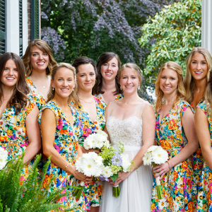 Colorful Bridesmaids Dresses Virginia Wedding