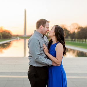 Washington Monument Sunrise Engagement Session