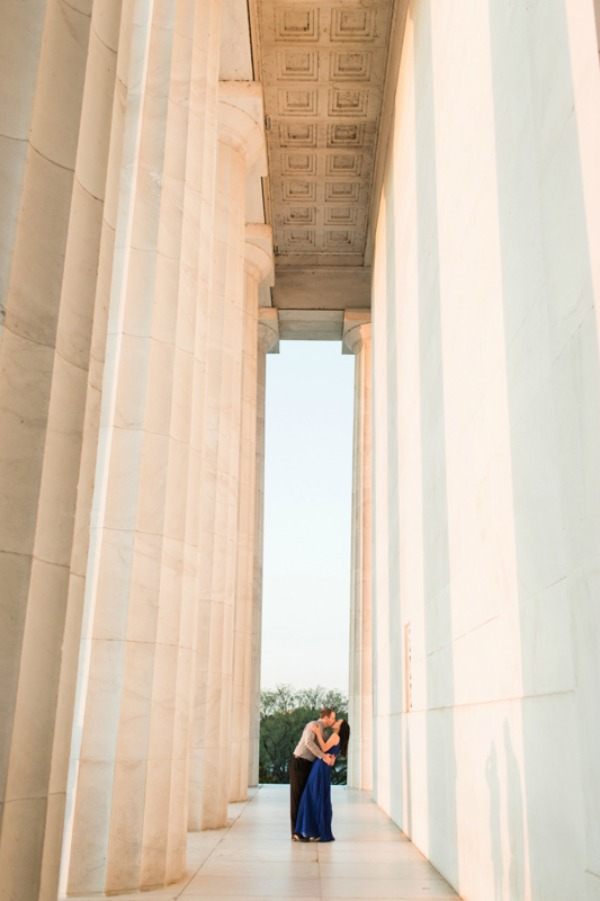 DC Lincoln Memorial Engagement Photo Session