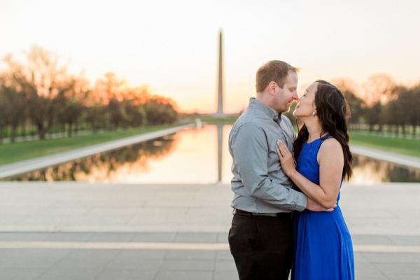 Washington Monument Sunrise Engagement Session