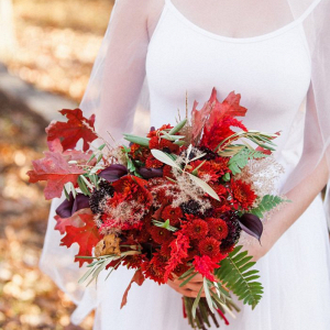Autumn red bouquet