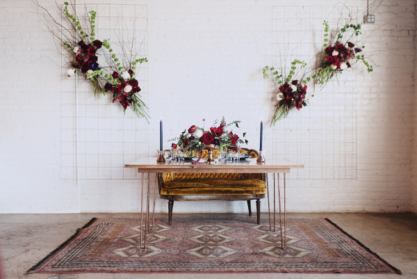 eclectic meets modern wedding