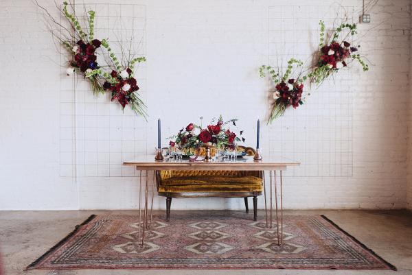 eclectic meets modern wedding