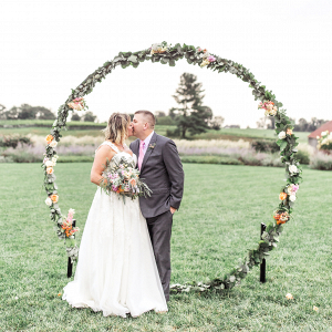 ceremony arch ring floral design
