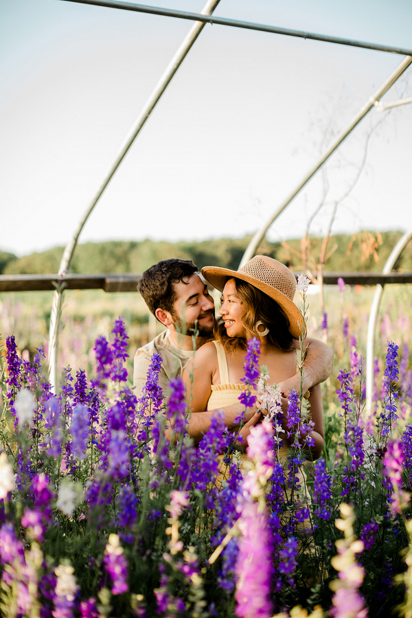 lilac engagement session