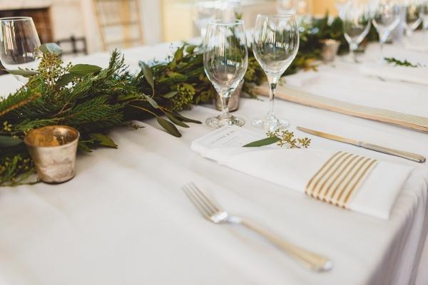 Modern rectangle reception table brunch wedding