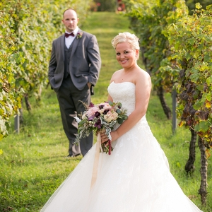 Weding portraits at Fall vineyard virginia wedding