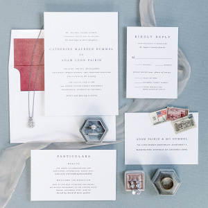 Capitol View at 400 wedding dc- invitation flat lay