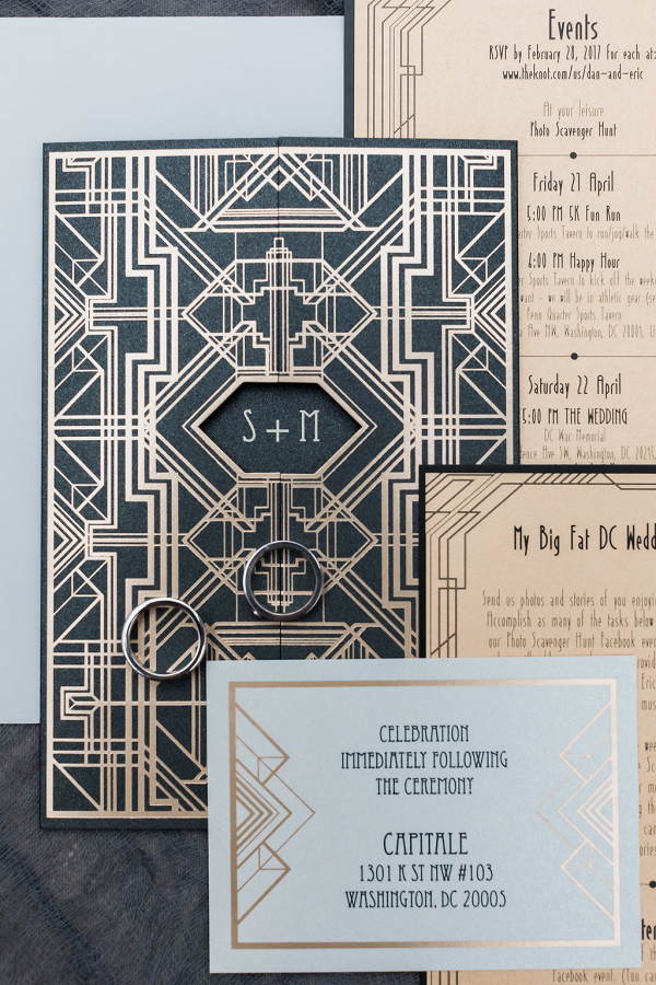 gold foil art eco wedding invitations gay wedding