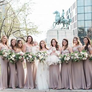 30e36502452 Taupe Bridesmaid Dresses - Aisle Society