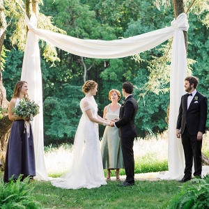 Woodend Sanctuary outdoor ceremony fabric draping