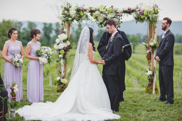 rustic chic ceremony arch