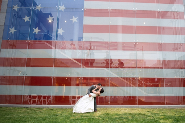 Patriotic and Modern Baltimore MD Wedding