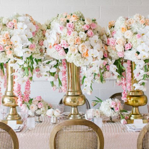 Oversized tall centerpieces