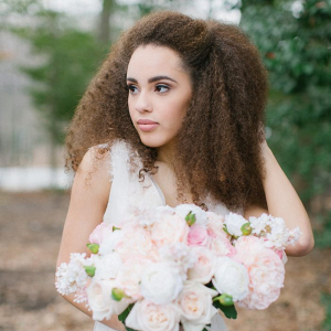 Natural hair bride