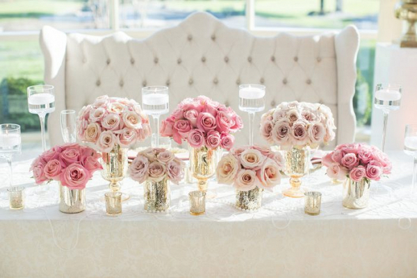 Glam sweetheart table