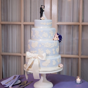 lavender lace tiered wedding cake