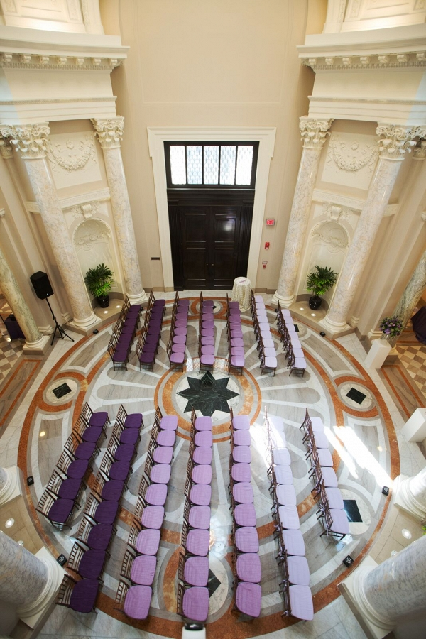 purple ombre dc ceremony wedding